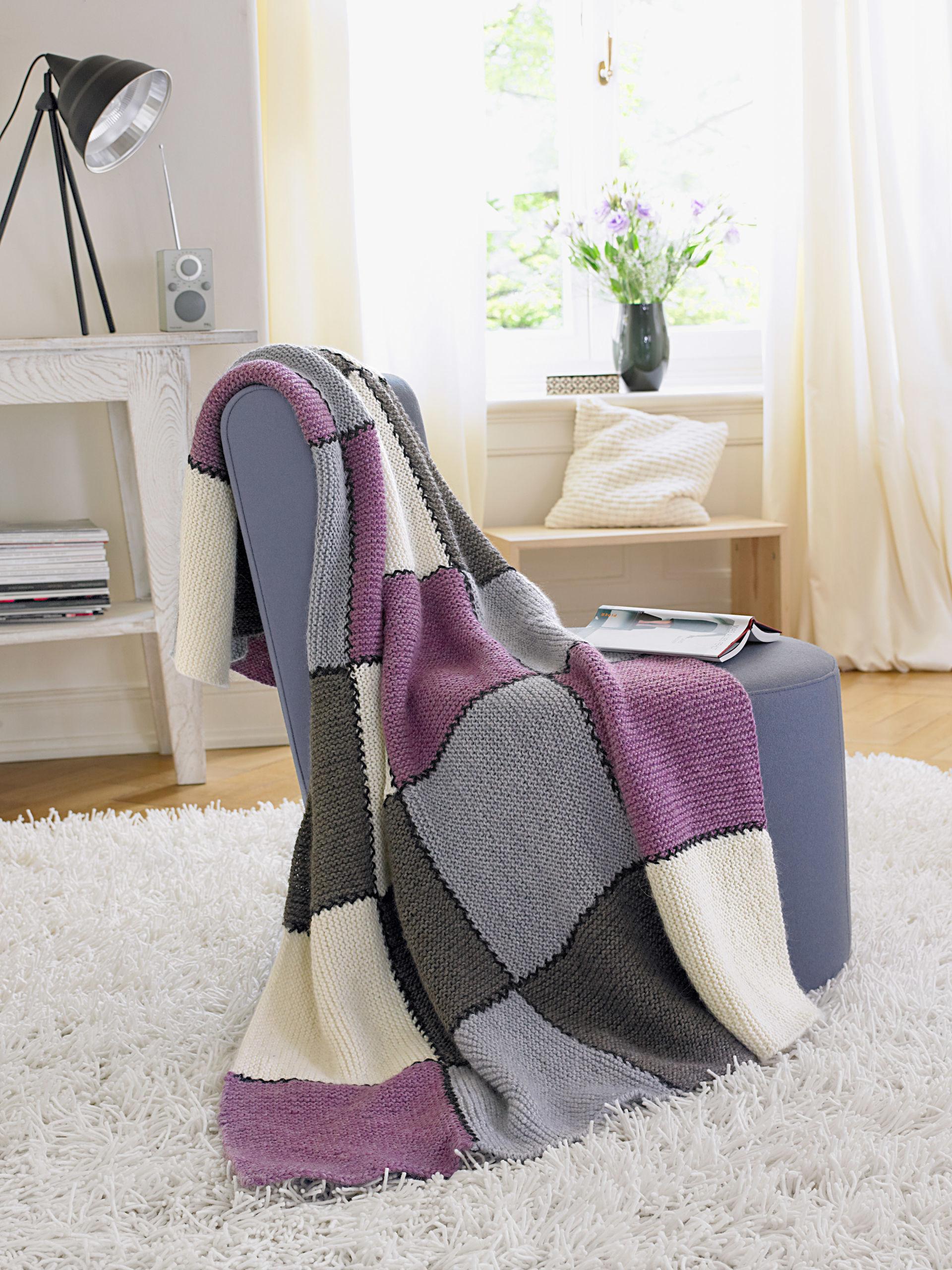 strick deko mit anleitung zuhause wohnen. Black Bedroom Furniture Sets. Home Design Ideas
