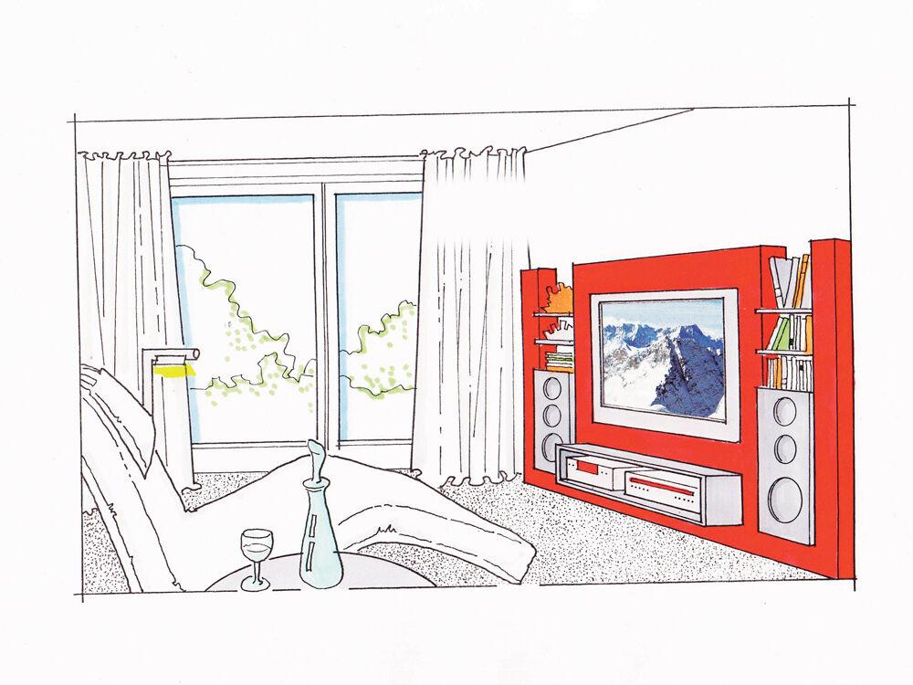 Schrankw nde nach ma zuhause wohnen for Jugendzimmer zeichnung