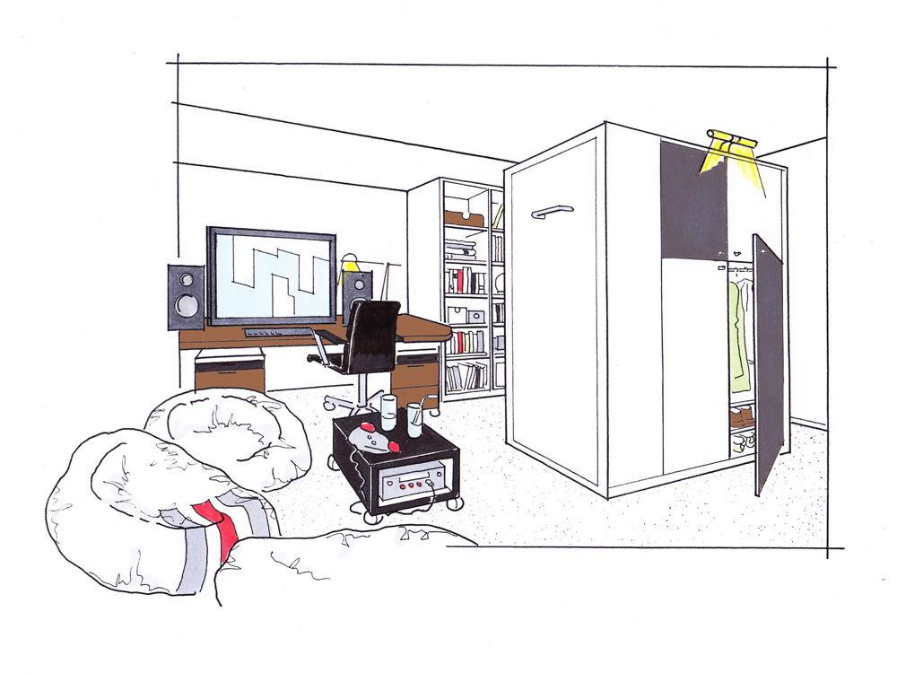 Zimmer für junge Männer 1