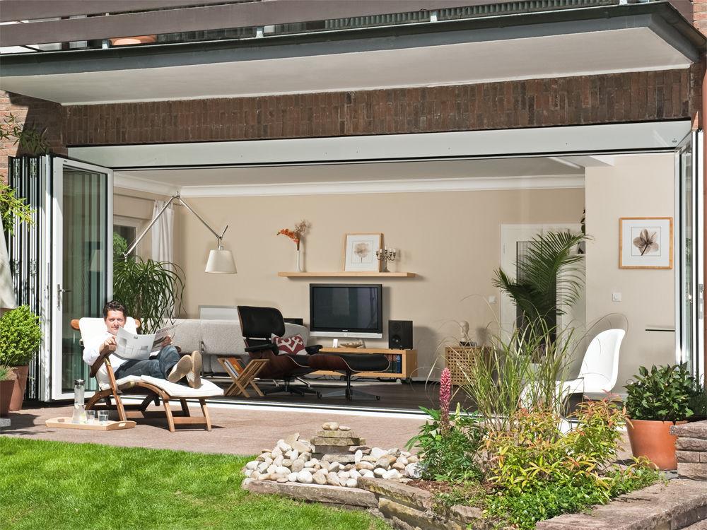 anbau aus glas zuhause wohnen. Black Bedroom Furniture Sets. Home Design Ideas