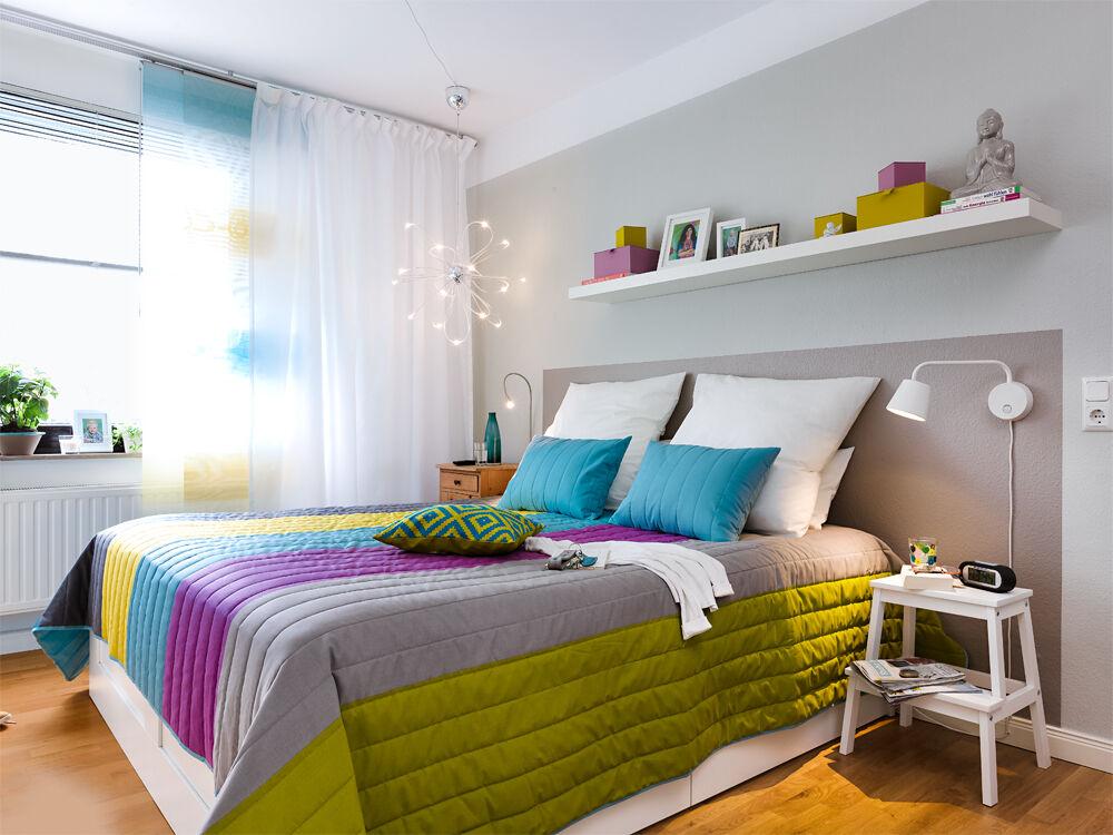 Schlafzimmer Wand Neu Gestalten #27: Zuhause Wohnen