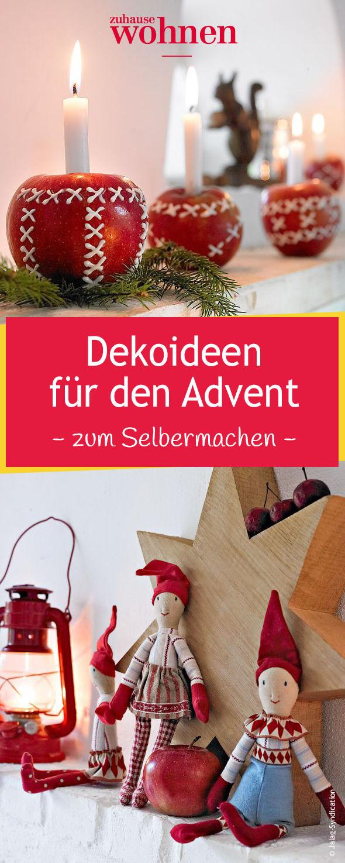 Dieses Jahr zieht mit Rot-Weiß und Naturtönen skandinavisches Flair ins Haus mit dieser Adventsdeko zum Selbermachen und Bestellen ein