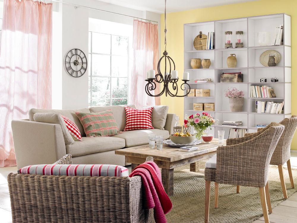 legerer country look zuhause wohnen. Black Bedroom Furniture Sets. Home Design Ideas