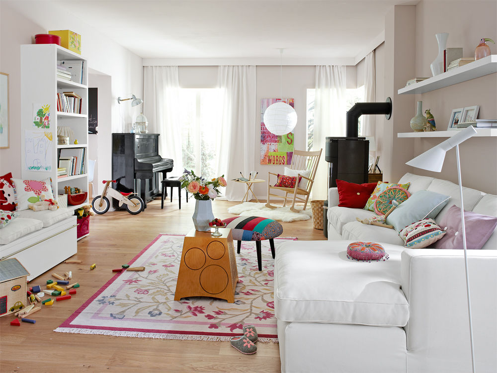 Wohnzimmer Amerikanischer Stil ~ Amerikanischer Landhausstil Wohnzimmer  Bunter CountryStil Zuhause