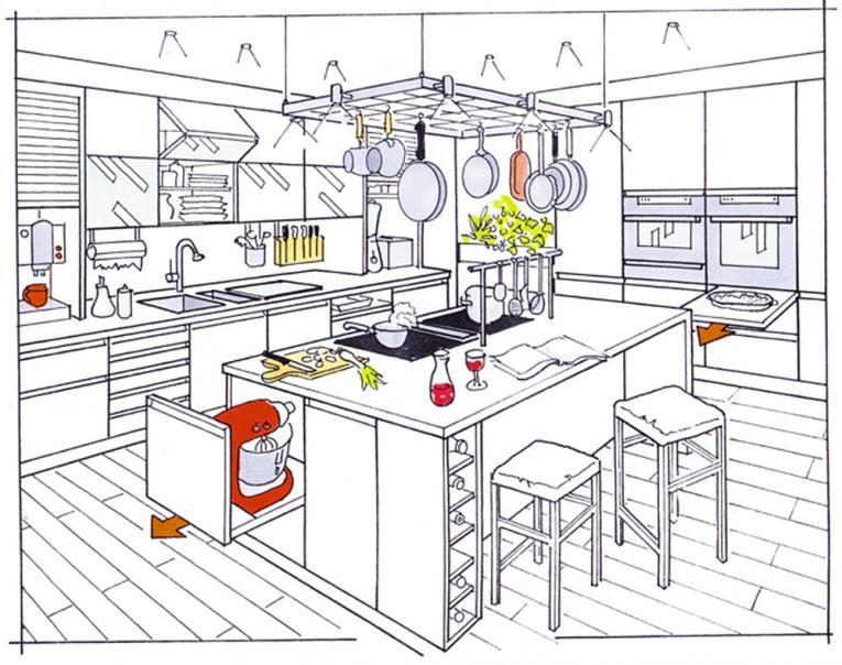 Küchenskizze
