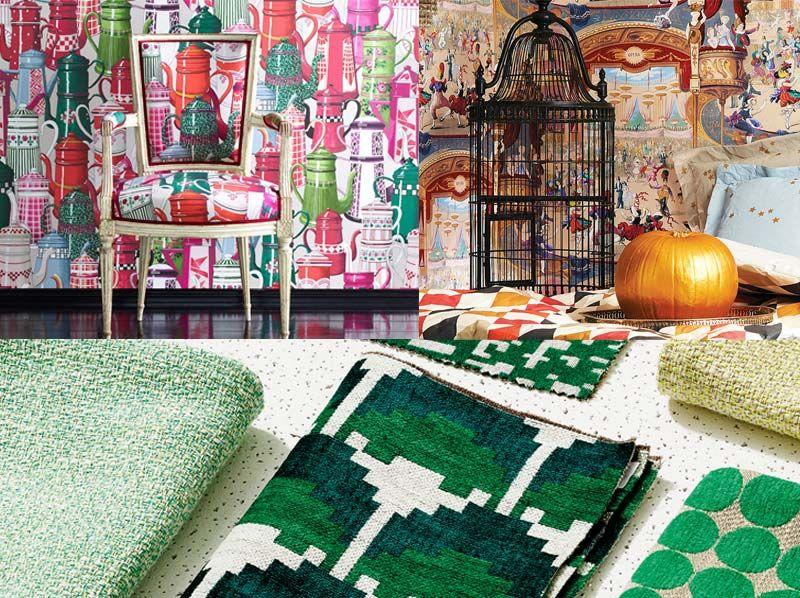 aktuelle stoffe die neuesten muster und strukturen zuhause wohnen. Black Bedroom Furniture Sets. Home Design Ideas