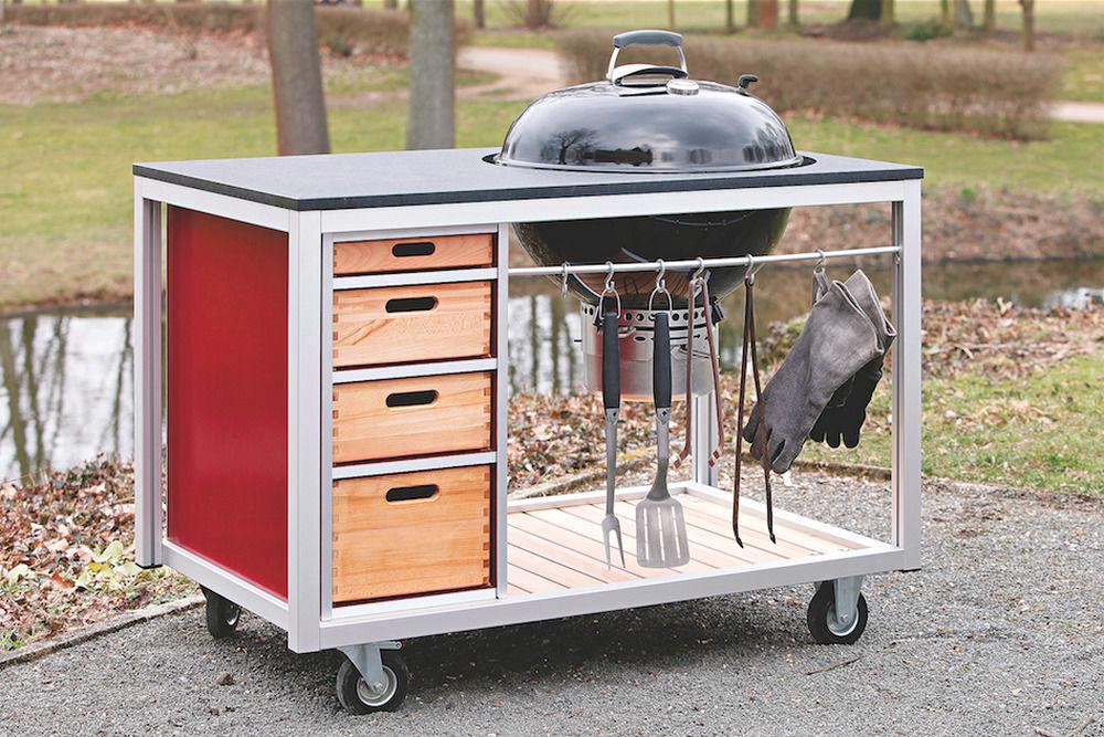 Outdoorküche Weber Weberpark : Holzkohlegrill für outdoor küche: inspiration für ihre outdoor küche