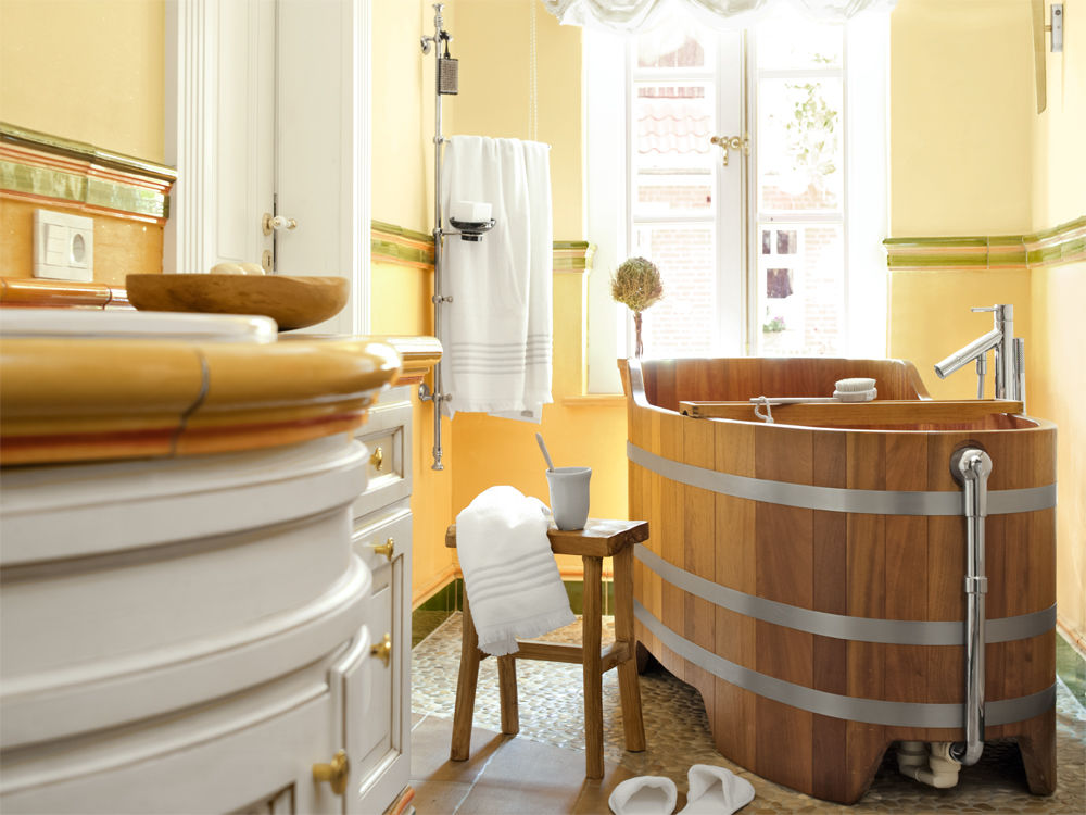 modernes nostalgiebad zuhause wohnen. Black Bedroom Furniture Sets. Home Design Ideas