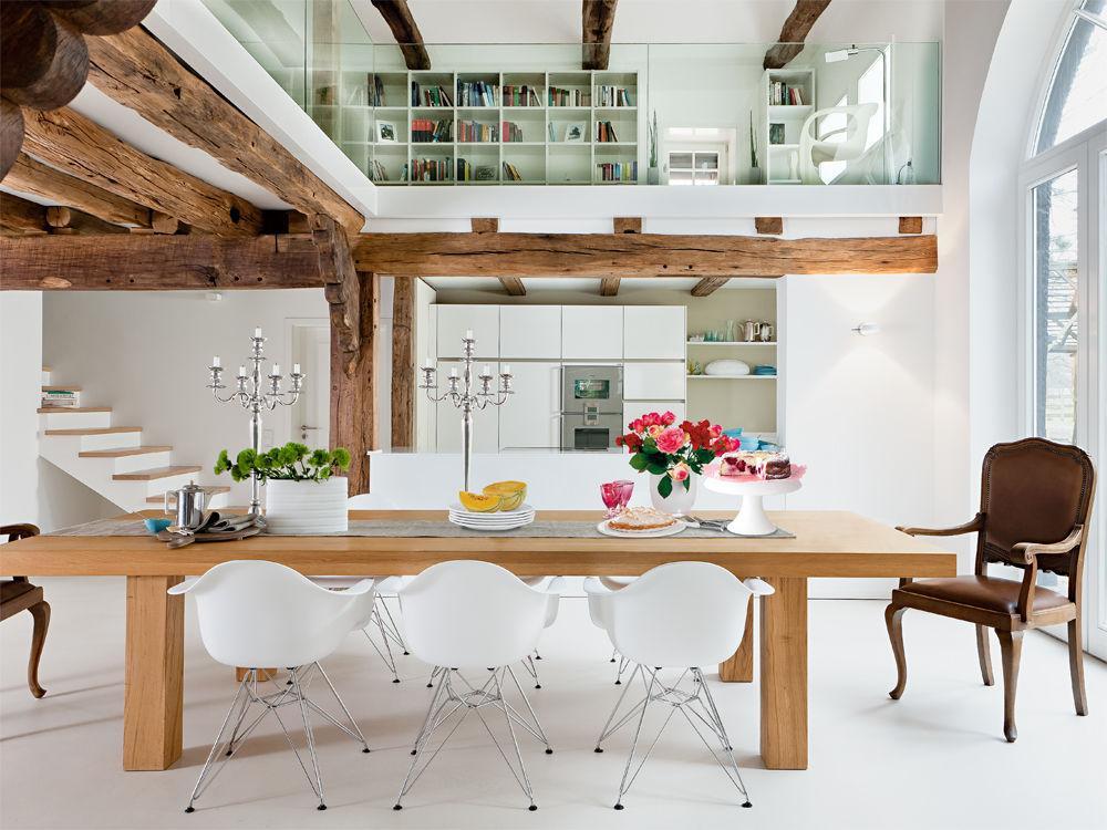 Eichenbalken Küche