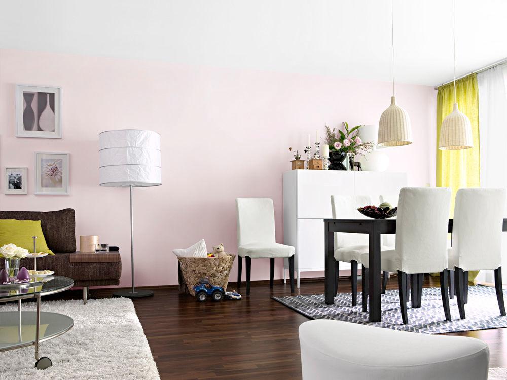 Wandgestaltung wohnzimmer wohlf hloase im ikea for Ikea hemnes wohnzimmerserie