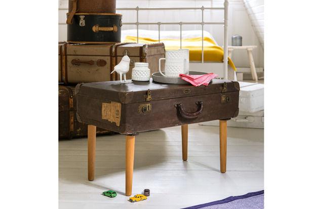 Upcycling: Koffertisch selber machen
