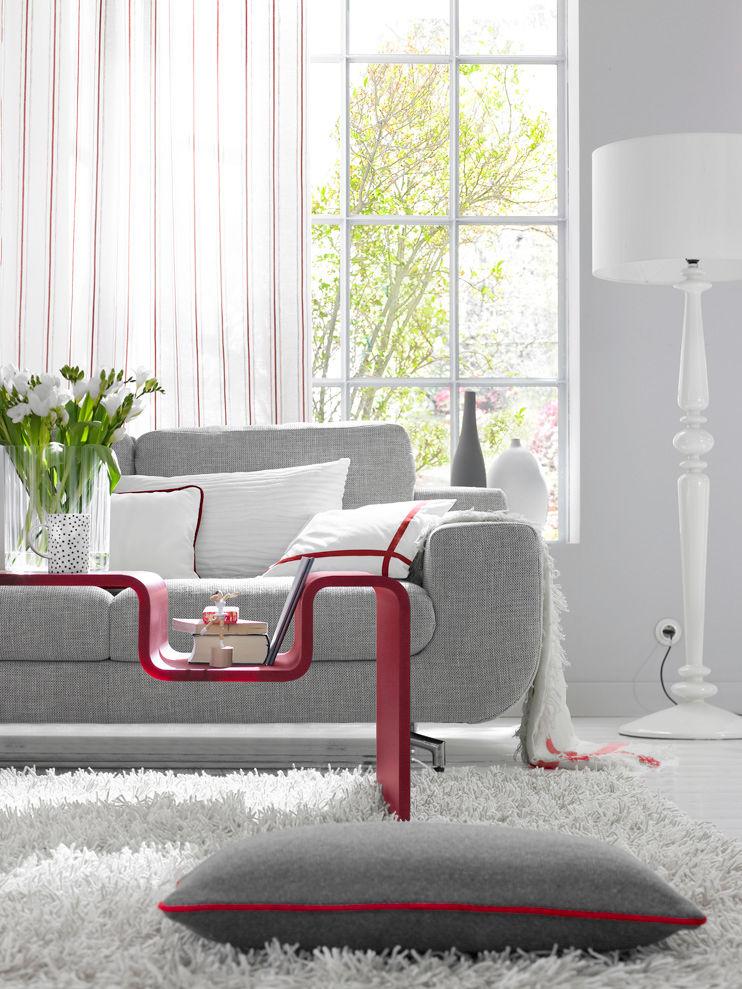 rote akzente zuhause wohnen. Black Bedroom Furniture Sets. Home Design Ideas
