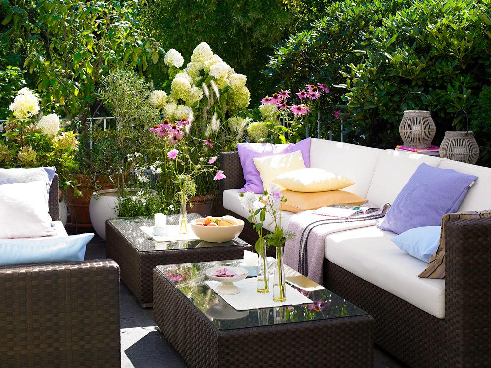 Sommerterrassen zuhause wohnen - Balkon orientalisch gestalten ...