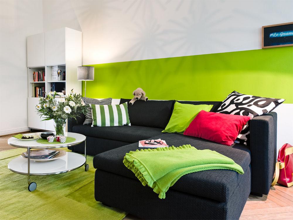 wandgestaltung wohnzimmer grün ? elvenbride.com