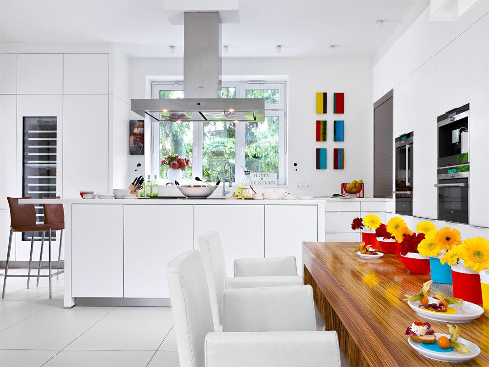 Offene Küche in Weiß | Zuhause Wohnen