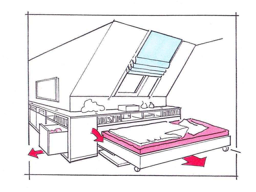 platzgewinn dank einbauten zuhause wohnen. Black Bedroom Furniture Sets. Home Design Ideas