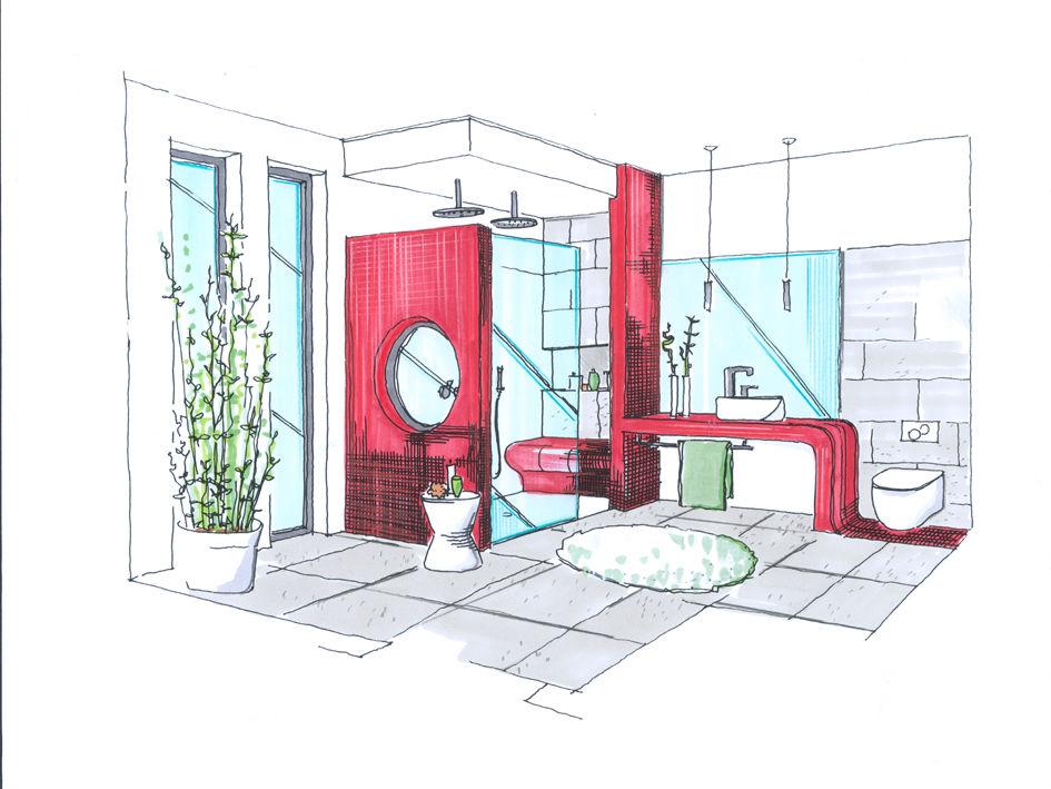 Badezimmerzeichnung