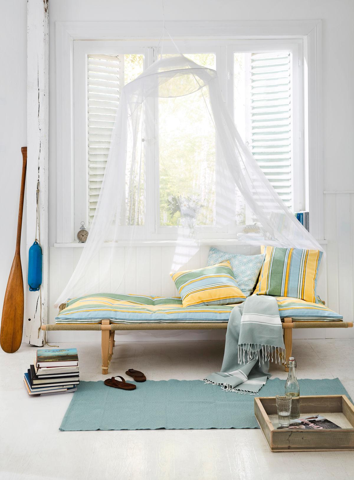 Anleitung streifenkissen und auflage zuhause wohnen for Wohnen und ideen