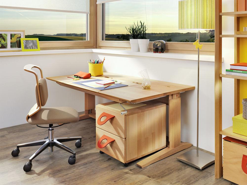 mitwachsender kinderschreibtisch zuhause wohnen. Black Bedroom Furniture Sets. Home Design Ideas