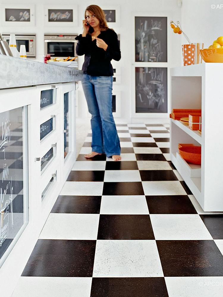 Linoleum und kork zuhause wohnen for Gartengestaltung 400 m2