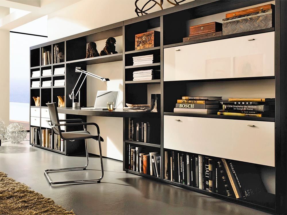 home office clever integriert zuhause wohnen. Black Bedroom Furniture Sets. Home Design Ideas