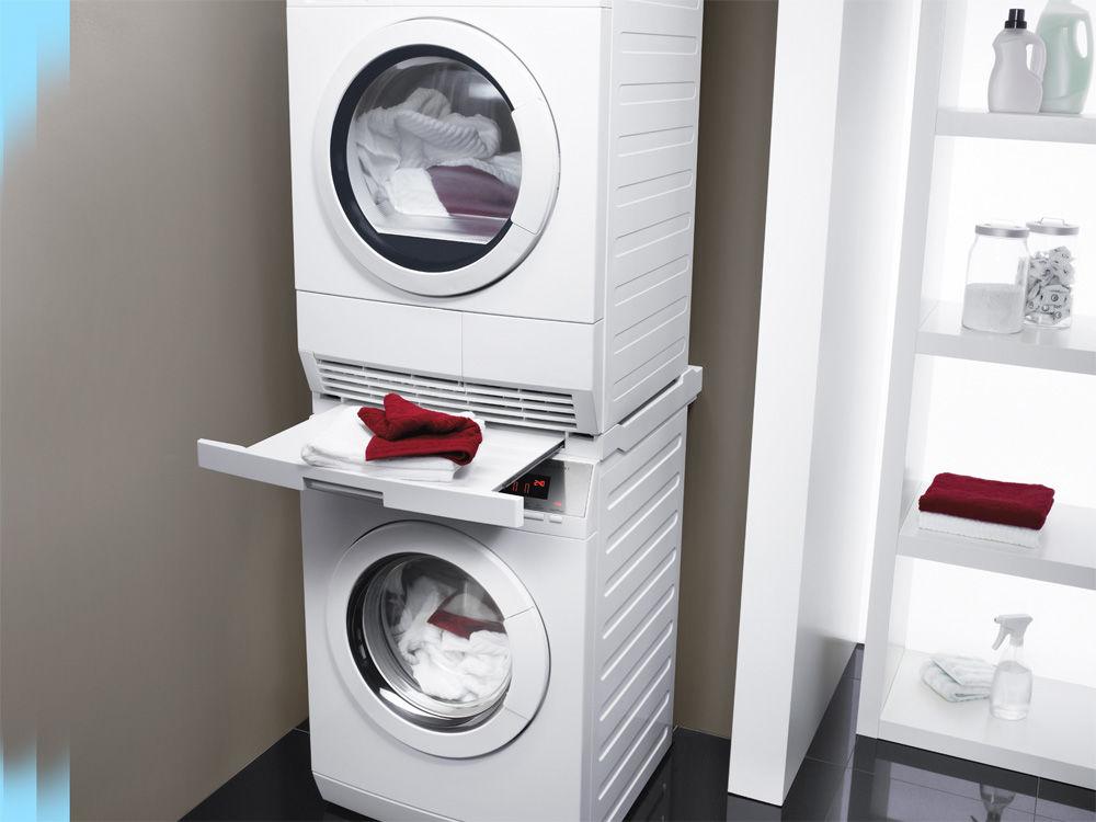 wäschetrockner und waschmaschine übereinander