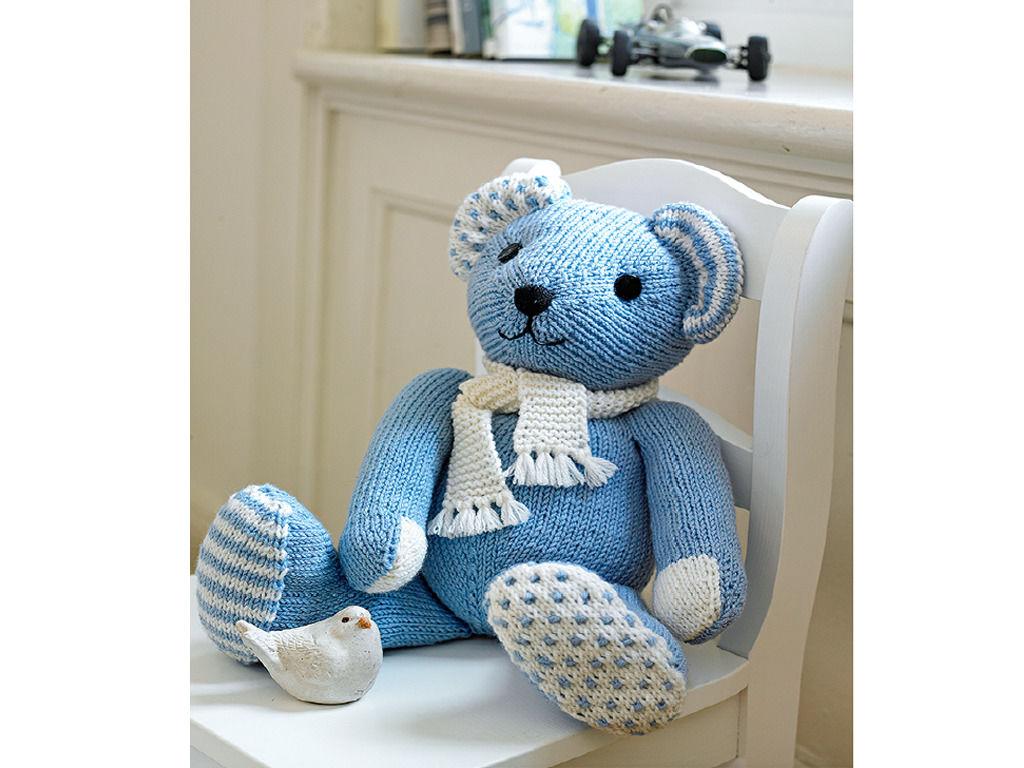 Selbstgestrickter Teddybär