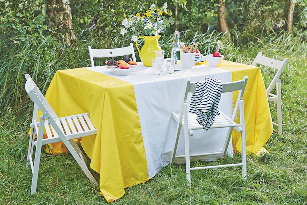Gelbe Tischdecke