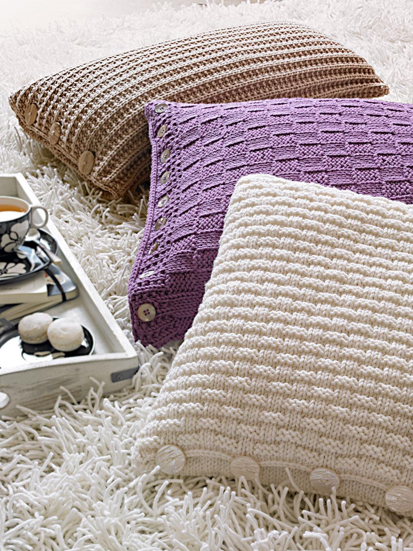 anleitung strickkissen aus merinowolle zuhause wohnen. Black Bedroom Furniture Sets. Home Design Ideas