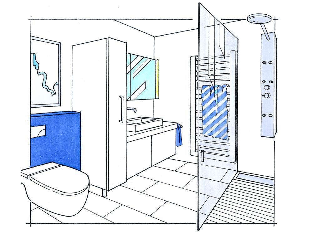kleines bad - große wirkung | zuhause wohnen - Kleines Badezimmer Grundriss