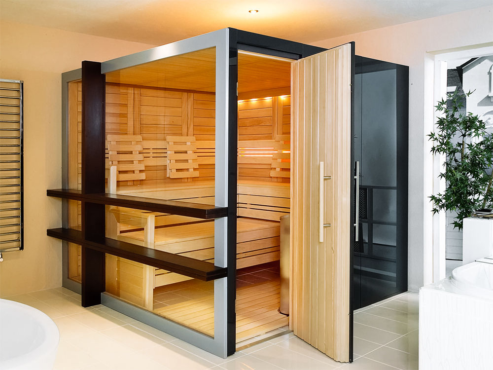perfekte heimsauna zuhause wohnen. Black Bedroom Furniture Sets. Home Design Ideas