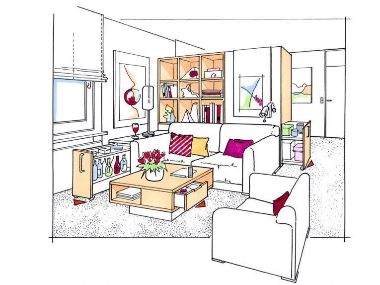 platzsparende m bel zuhause wohnen. Black Bedroom Furniture Sets. Home Design Ideas