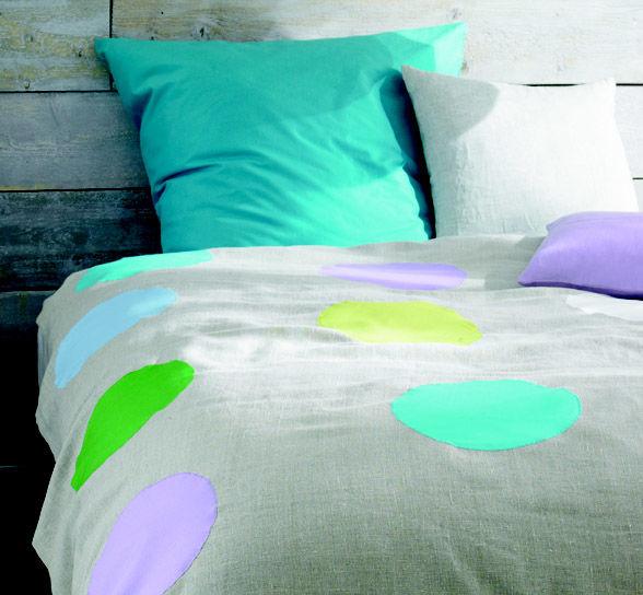 Bettüberwurf aus Leinen