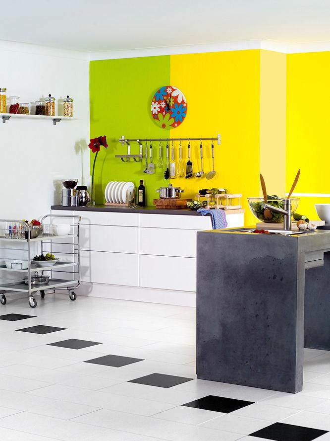 mehr farbe in der k che zuhausewohnen. Black Bedroom Furniture Sets. Home Design Ideas